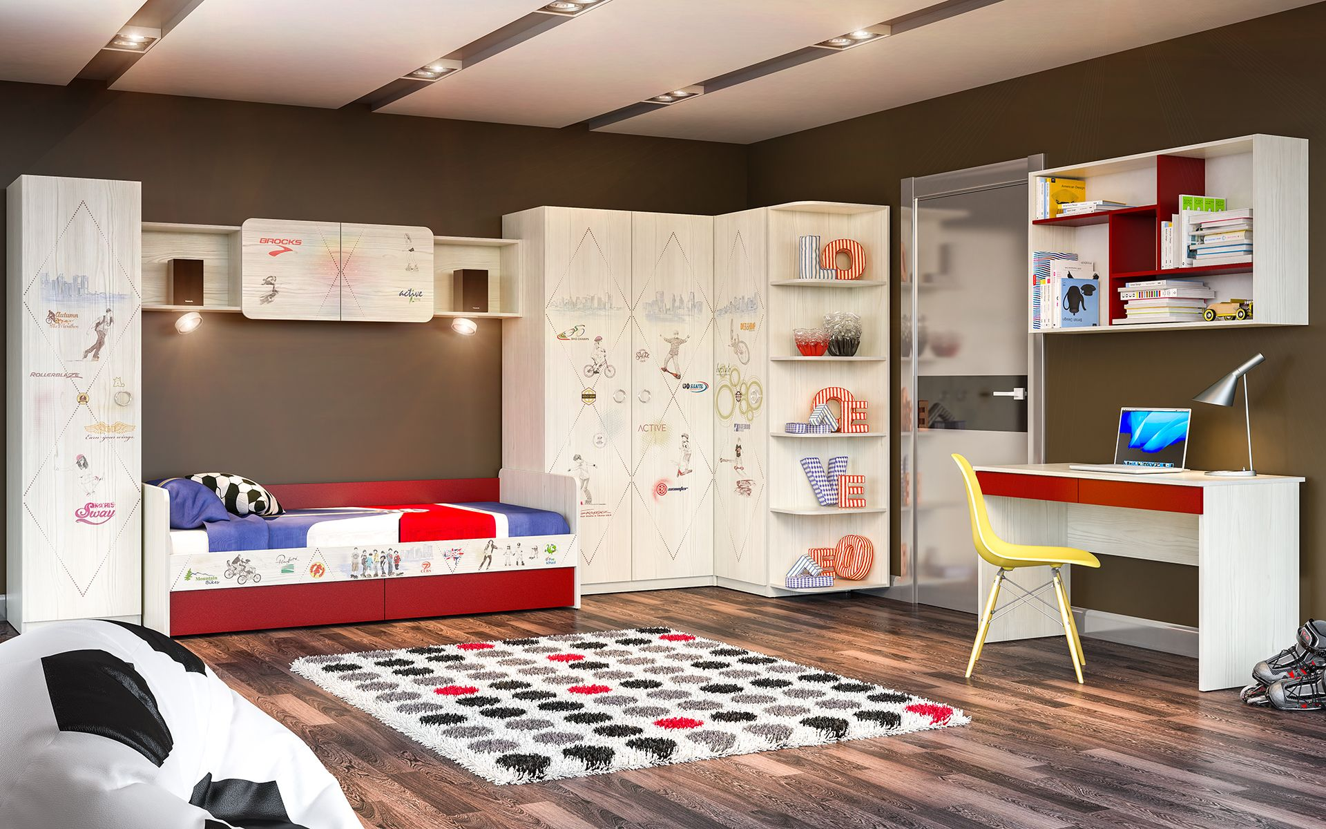 """Комплект модульной мебели """"актив"""" (2) модульная детская мебе."""